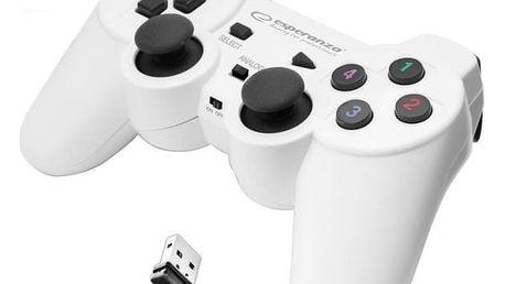 Gamepad Esperanza EGG108W Gladiator pro PC/PS3 (EGG108W - 5901299947272) bílý