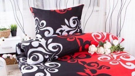 XPOSE ® Bavlněné povlečení SABINA EXCLUSIVE - červená 140x200, 70x90