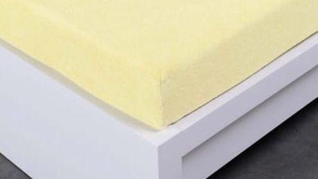 XPOSE ® Froté prostěradlo Exclusive dvoulůžko - vanilková 200x220 cm
