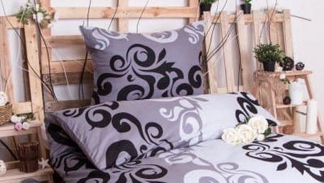 XPOSE ® Bavlněné povlečení SABINA EXCLUSIVE - šedá 140x200, 70x90