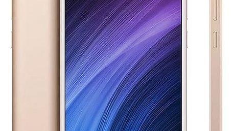 Mobilní telefon Xiaomi 4A Dual SIM, CZ LTE (PH3690) zlatý Software F-Secure SAFE 6 měsíců pro 3 zařízení + Hra New Bright Člověče nezlob se - malé v hodnotě 999 Kč