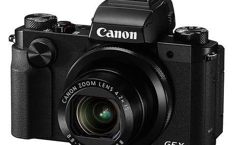 Digitální fotoaparát Canon PowerShot G5 X černý + dárek Paměťová karta Kingston SDXC 64GB UHS-I U1 (90R/45W) v hodnotě 1 198 Kč + DOPRAVA ZDARMA