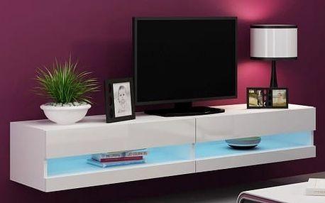 Vigo - TV komoda 180 otevřená (bílá mat/bílá VL)
