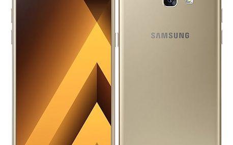 Mobilní telefon Samsung A5 (2017) (SM-A520FZDAETL) zlatý Paměťová karta Kingston MicroSDHC 16GB UHS-I U1 (45R/10W) v hodnotě 238 Kč + DOPRAVA ZDARMA
