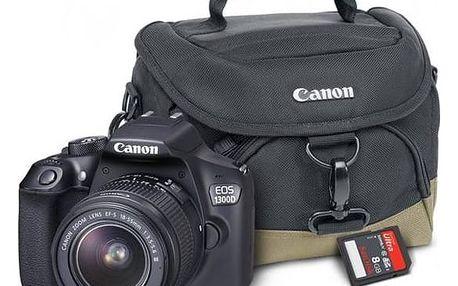 Digitální fotoaparát Canon EOS 1300D + 18-55 mm DC III černý Starter Kit černý + Cashback 800 Kč + Doprava zdarma