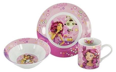 Mia and Me 3dílná dětská jídelní sada, porcelán