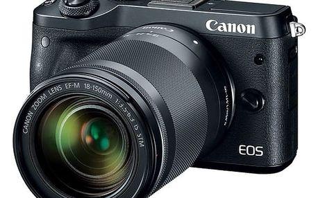 Digitální fotoaparát Canon EOS M6 + 18-150mm IS STM (1724C022) černý + DOPRAVA ZDARMA
