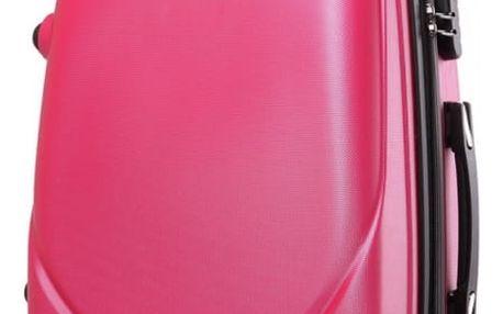 Dámský růžový kufr na kolečkách Gyna 1602