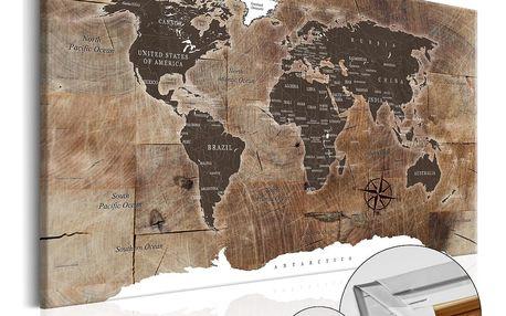 Bimago Obraz na korku - Wooden Mosaic 120x80 cm