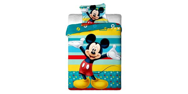 Jerry Fabrics Dětské bavlněné povlečení Mickey tyrkys 140x200 70x90