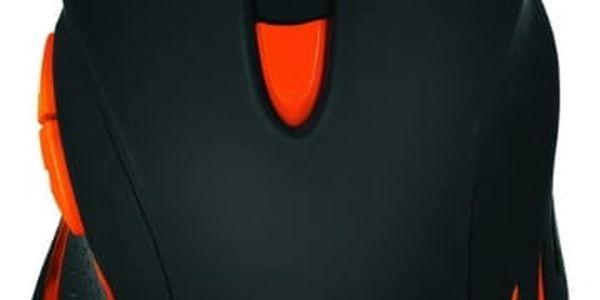 Myš Canyon Corax (CND-SGM5N) černá/oranžová / optická / 7 tlačítek / 6400dpi2