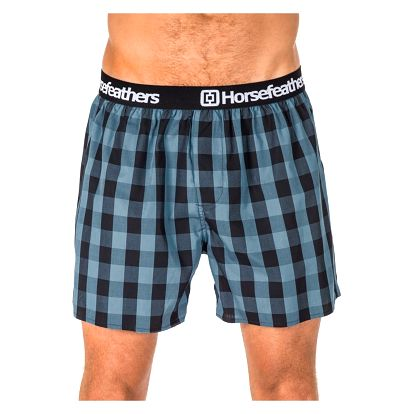 Pánské Trenky Horsefeathers Apollo Boxer Shorts Smoke Blue L