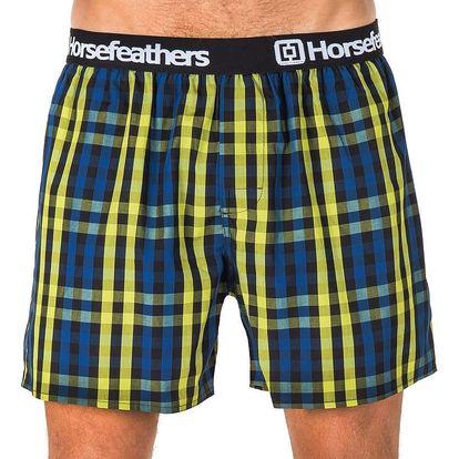 Pánské Trenky Horsefeathers Apollo Boxer Shorts Lime Green XL