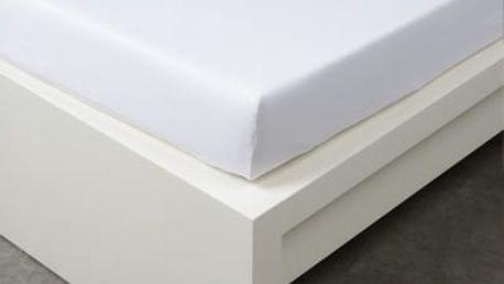 XPOSE ® Bambusové jersey prostěradlo dvoulůžko - bílá 180x200 cm