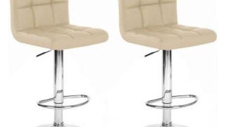 2x Barová židle Hawaj CL-3232-1 (krémová)