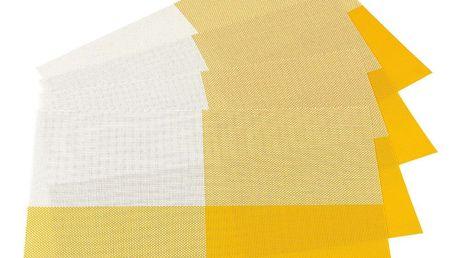Jahu Prostírání DeLuxe žlutá 30 x 45 cm sada 4 ks