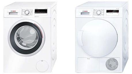 Set (Automatická pračka Bosch WAN28260CS) + (Sušička prádla Bosch WTH83000BY) + DOPRAVA ZDARMA