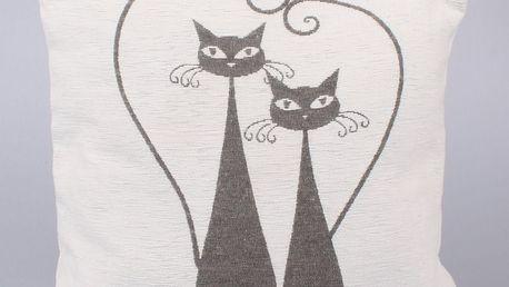 Dakls Povlak na polštář Cats bílá, 40 x 40 cm