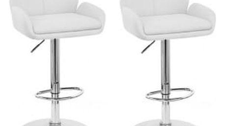 2x Barová židle Hawaj CL-3335-2 | bílá