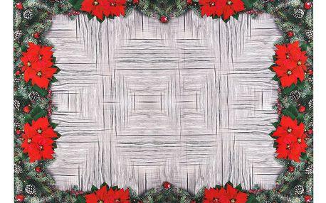 Forbyt Vánoční ubrus Vánoční růže, 120 x 140 cm, 120 x 140 cm