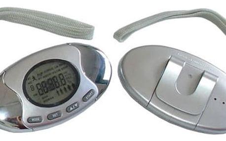 Krokoměr Brother krokoměr s multifunkčním displayem - kroky, vzdálenost, hodiny, čas, kalorie, tělesný tuk