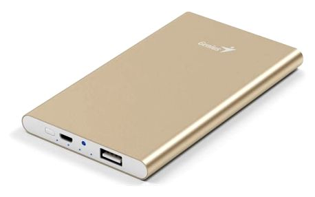 GENIUS napájecí zdroj Power Bank ECO-u540/ 5.400 mAH/ Apple design/ hliníkový/ zlatá
