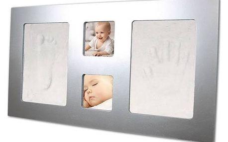 Sada pro otisk Happy Hands Large frame Silver stříbrná + Doprava zdarma