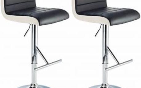 2x Barová židle Hawaj CL-8005 (černá)
