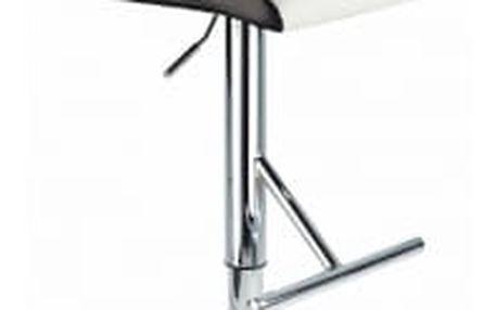 Barová židle CL-8005 WT bílá s černým lemem