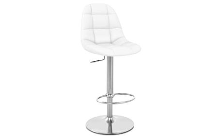 Barová židle CL-8023 WT bílá
