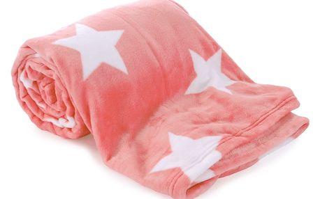 JAHU Deka Light sleep New Stars růžová, 150 x 200 cm