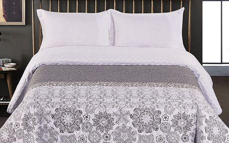 DecoKing Přehoz na postel Alhambra šedá, 220 x 240 cm