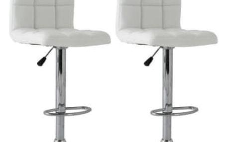 2x Barová židle Hawaj CL-3232-1 (bílá)