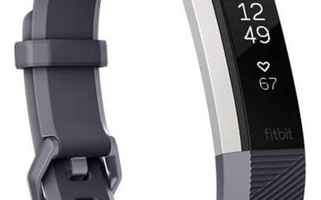 Fitness náramek Fitbit Alta HR small - Blue Gray (FB408SGYS-EU) + Doprava zdarma