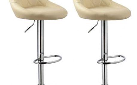 2x Barová židle Hawaj CL-3235 (krémová)