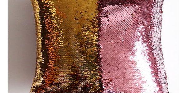 Povlak na polštář s flitry - měnící - více variant