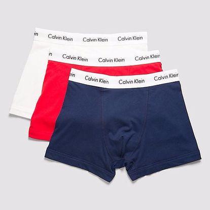 Calvin Klein barevné boxerky 3 Pack Low Rise Trunks