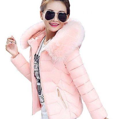 Stylová bunda s kožíškem