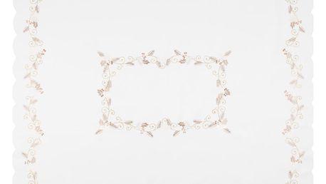 Forbyt Vánoční ubrus Cesmína bílá, 120 x 140 cm, 120 x 140 cm