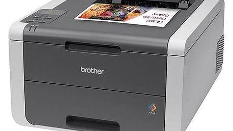 Tiskárna laserová Brother HL-3140CW (HL3140CWYJ1) černá/šedá + Doprava zdarma