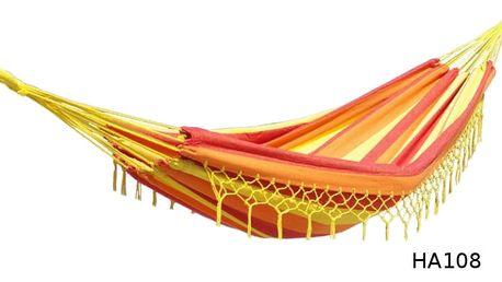 Houpací síť DUVLAN s krajkou 220 x 130 cm Barva: HA159