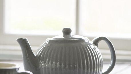 IB LAURSEN Keramická konvice Mynte French Grey 1l, šedá barva, keramika