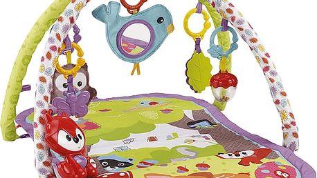 FISHER-PRICE Hrací deka s hrazdičkou - lesní kamarádi