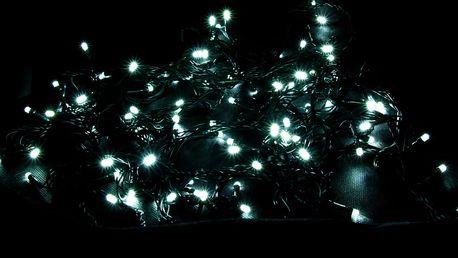 LEDLight Vánoční světelný řetěz, délka 10m, 100 LED, kabel zelený