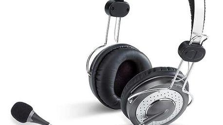 Headset Genius HS-04SU (31710045100) černý/stříbrný