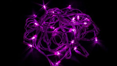 LEDLight Vánoční řetěz LED osvětlení, délka 10m, 100 LED, kabel bílý