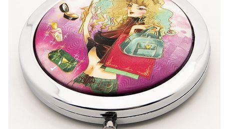 Kapesní kosmetické zrcátko Dolls Shopping fialové