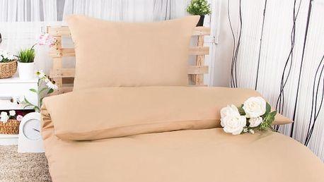 XPOSE ® Bavlněné povlečení na dvě lůžka MICHAELA - béžová 140x200, 70x90