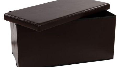 STILISTA 6482 Skládací lavice s úložným prostorem - hnědá
