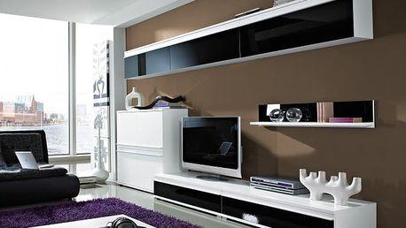 Freestyle - Obývací stěna, set GW (bílá/černá, bílá)